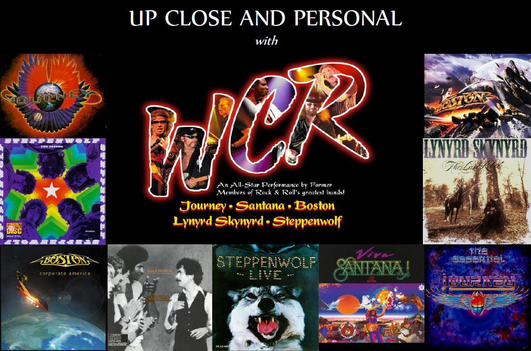 Up Close and Personal with WCR banner with album cover images